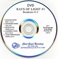Rays Of Light DVD #1 - DVD Time: 1:40:37