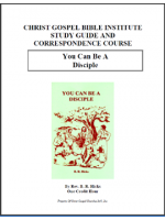 You Can Be A Disciple (Workbook)